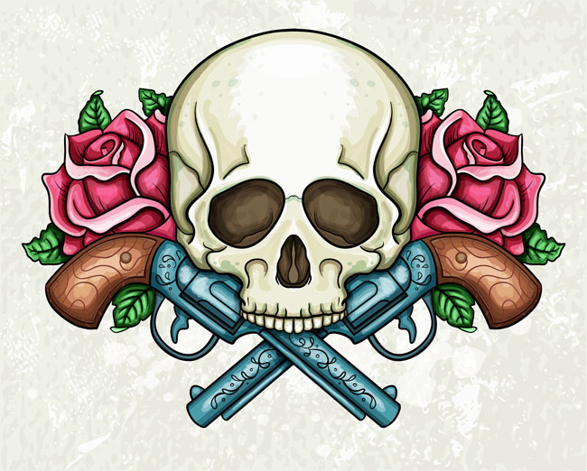 skull_tattoo_with_guns_and_roses